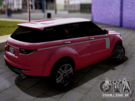 GTA V Gallivanter Baller II para GTA San Andreas esquerda vista
