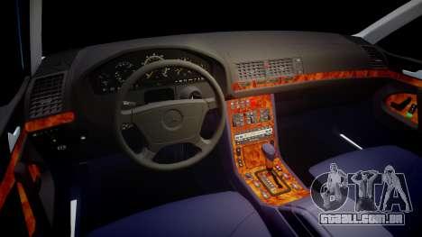 Mercedes-Benz 600SEL W140 para GTA 4 vista de volta