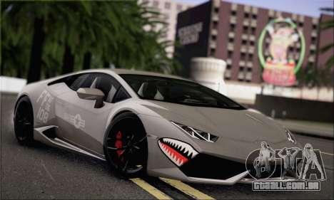 Lamborghini Huracan LP610-4 2015 para GTA San Andreas vista interior