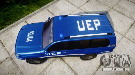 Toyota Land Cruiser 100 UEP blue [ELS] para GTA 4 vista direita