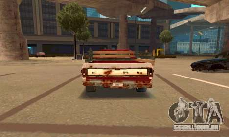 Ford PickUp Rusted para GTA San Andreas vista direita