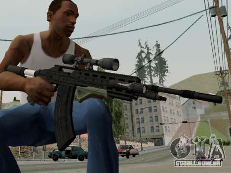 Heavy Sniper Rifle from GTA V para GTA San Andreas segunda tela