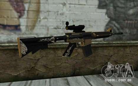 M4A1 from PointBlank para GTA San Andreas segunda tela