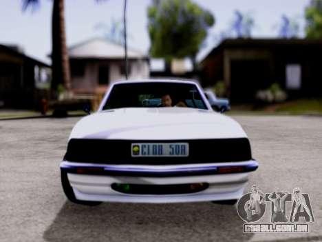 Lampadati Pigalle GTA V para GTA San Andreas traseira esquerda vista