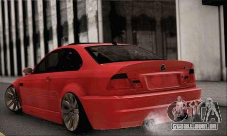 BMW M3 Coupe Tuned para GTA San Andreas esquerda vista
