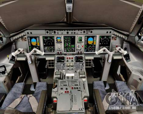 Embraer E-190 Air Canada para GTA San Andreas interior