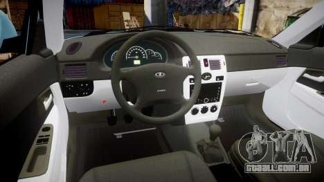ВАЗ-Lada 2170 Priora Sapara para GTA 4 vista de volta