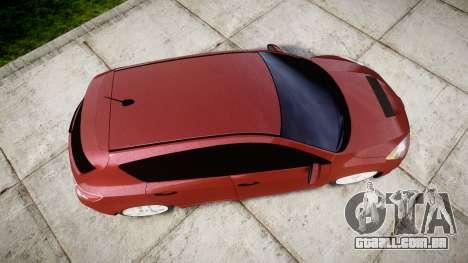 Mazda 3 MPS para GTA 4 vista direita