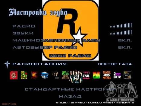 Grupo de botões de rádio Gaza para GTA San Andreas segunda tela