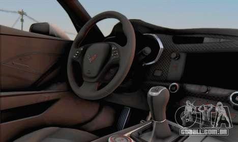 Chevrolet Corvette Stingray C7 2014 para GTA San Andreas vista direita