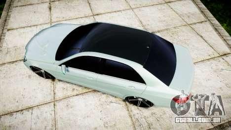 Mercedes-Benz E200 Vossen VVS CV5 para GTA 4 vista direita