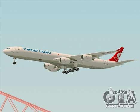 Airbus A340-600 Turkish Cargo para GTA San Andreas vista direita