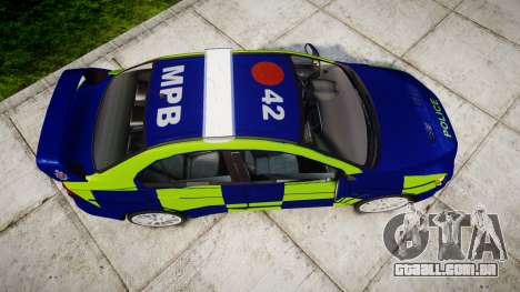 Mitsubishi Lancer Evolution X Police [ELS] para GTA 4 vista direita
