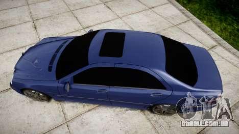 Mercedes-Benz W220 S65 AMG para GTA 4 vista direita