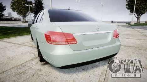 Mercedes-Benz E200 Vossen VVS CV5 para GTA 4 traseira esquerda vista