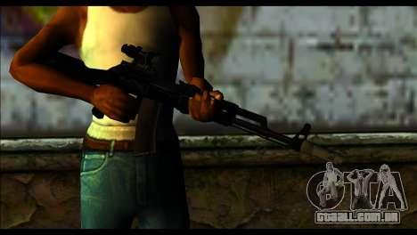 AK-101 ACOG para GTA San Andreas terceira tela