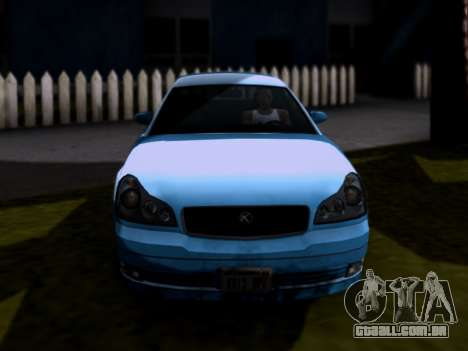 GTA V Intruder para GTA San Andreas traseira esquerda vista