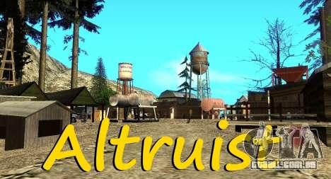O Altruísta acampamento no monte Chiliad para GTA San Andreas