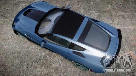 Chevrolet Corvette Z06 2015 TireMi1 para GTA 4 vista direita