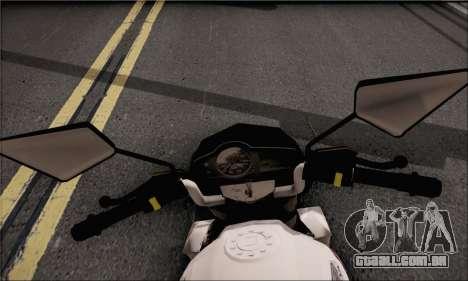 Honda Verza 150 para GTA San Andreas traseira esquerda vista