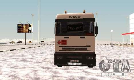 Iveco EuroTech Inflamável para GTA San Andreas esquerda vista