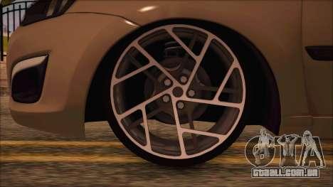 VAZ 2190 Lada Kalina-Conceder para GTA San Andreas traseira esquerda vista