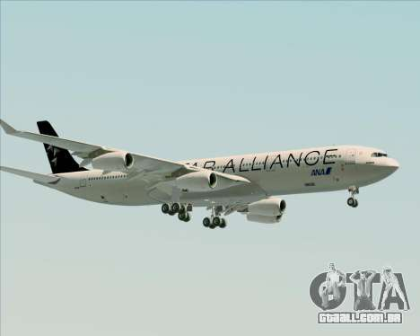 Airbus A340-300 All Nippon Airways (ANA) para GTA San Andreas traseira esquerda vista
