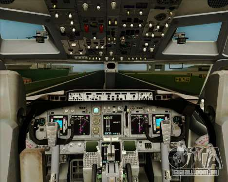 Boeing 737-800 WestJet Airlines para GTA San Andreas interior