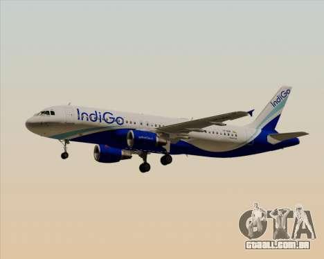 Airbus A320-200 IndiGo para vista lateral GTA San Andreas