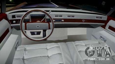 Cadillac Eldorado 1978 para GTA 4 vista de volta