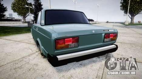 VAZ-2107 para GTA 4 traseira esquerda vista