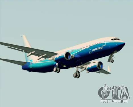 Boeing 737-800 House Colors para GTA San Andreas vista superior