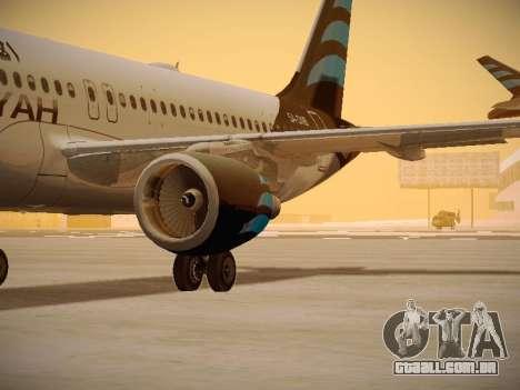 Airbus A320-214 Afriqiyah Airways para GTA San Andreas vista interior