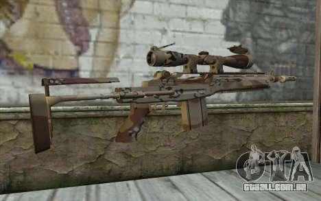 M14 EBR Chipdesert para GTA San Andreas segunda tela