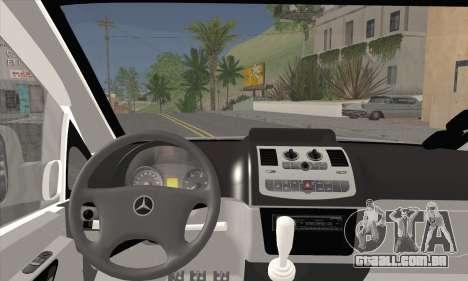 Mercedes-Benz Vito Vip para GTA San Andreas traseira esquerda vista