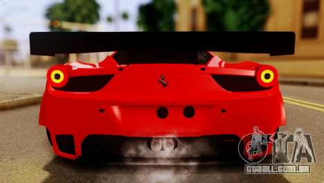Ferrari 62 F458 2011 para vista lateral GTA San Andreas