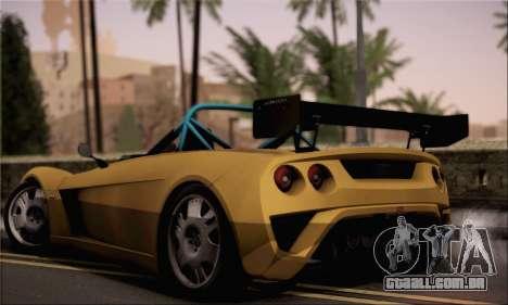 Lotus 2 Eleven (211) para GTA San Andreas esquerda vista
