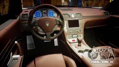 Maserati GranTurismo S 2010 PJ 3 para GTA 4 vista de volta