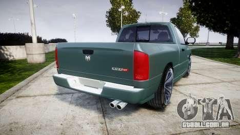 Dodge Ram para GTA 4 traseira esquerda vista