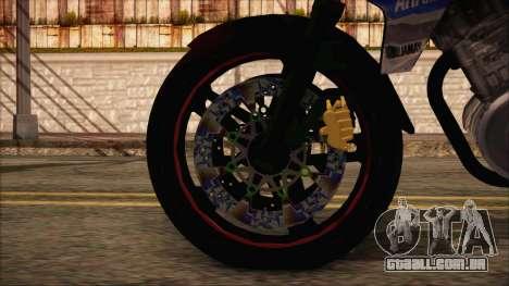 Yamaha V-Ixion GP Series para GTA San Andreas traseira esquerda vista