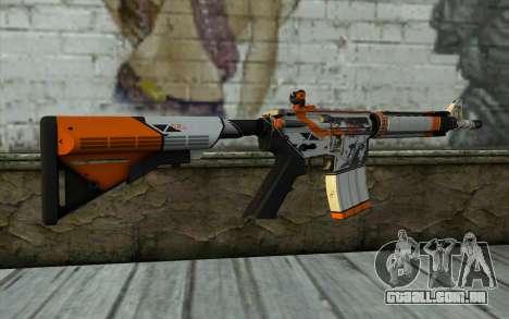 M4A4 from CS:GO para GTA San Andreas segunda tela