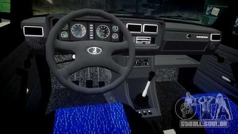 VAZ-2107 melhor modelo para GTA 4 vista interior