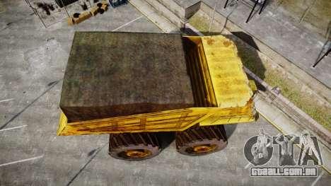 Mining Truck para GTA 4 vista direita
