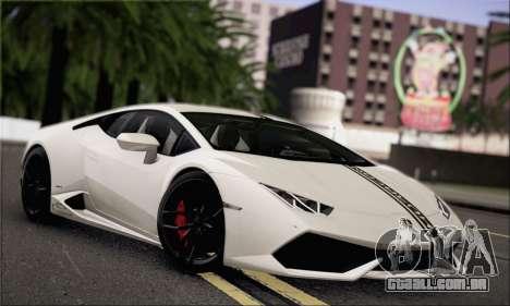 Lamborghini Huracan LP610-4 2015 para GTA San Andreas vista superior
