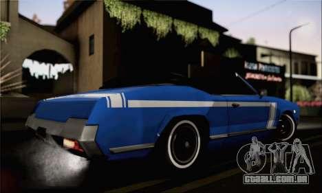 Sabre Convertible v1.0 para GTA San Andreas esquerda vista