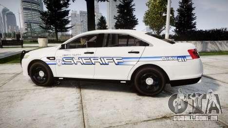 Ford Taurus 2014 [ELS] Liberty County Sheriff para GTA 4 esquerda vista