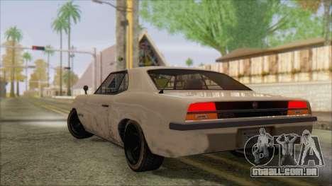 GTA 5 Vigero para GTA San Andreas esquerda vista