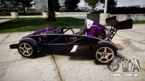 Ariel Atom V8 2010 [RIV] v1.1 FOUR C Motorsport para GTA 4 esquerda vista