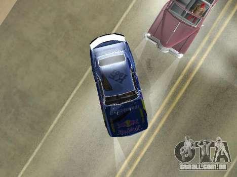 Chevrolet Camaro SS RedBull para GTA San Andreas vista traseira