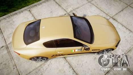 Maserati GranTurismo S 2010 PJ 1 para GTA 4 vista direita